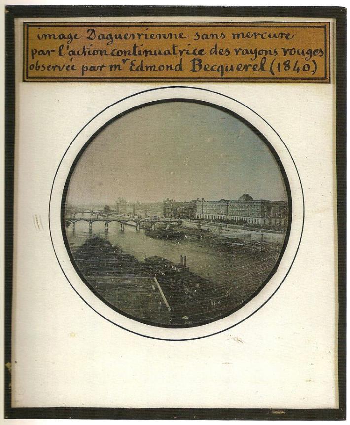 Un daguerréotype Becquerel de 1840